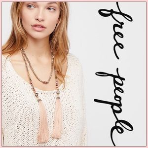 NWT Free People Shimmer Stone Choker Wrap Necklace